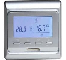 Терморегулятор для теплого пола E51 серебро