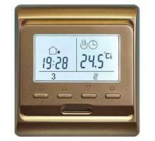 Терморегулятор для теплого пола E51 золотой