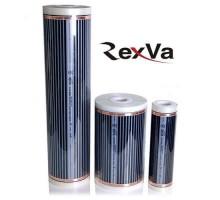 Пленочный теплый пол Rexva Xica. Ширина 80 см., 220 ватт/м2. Толщина 0,338мм  000061