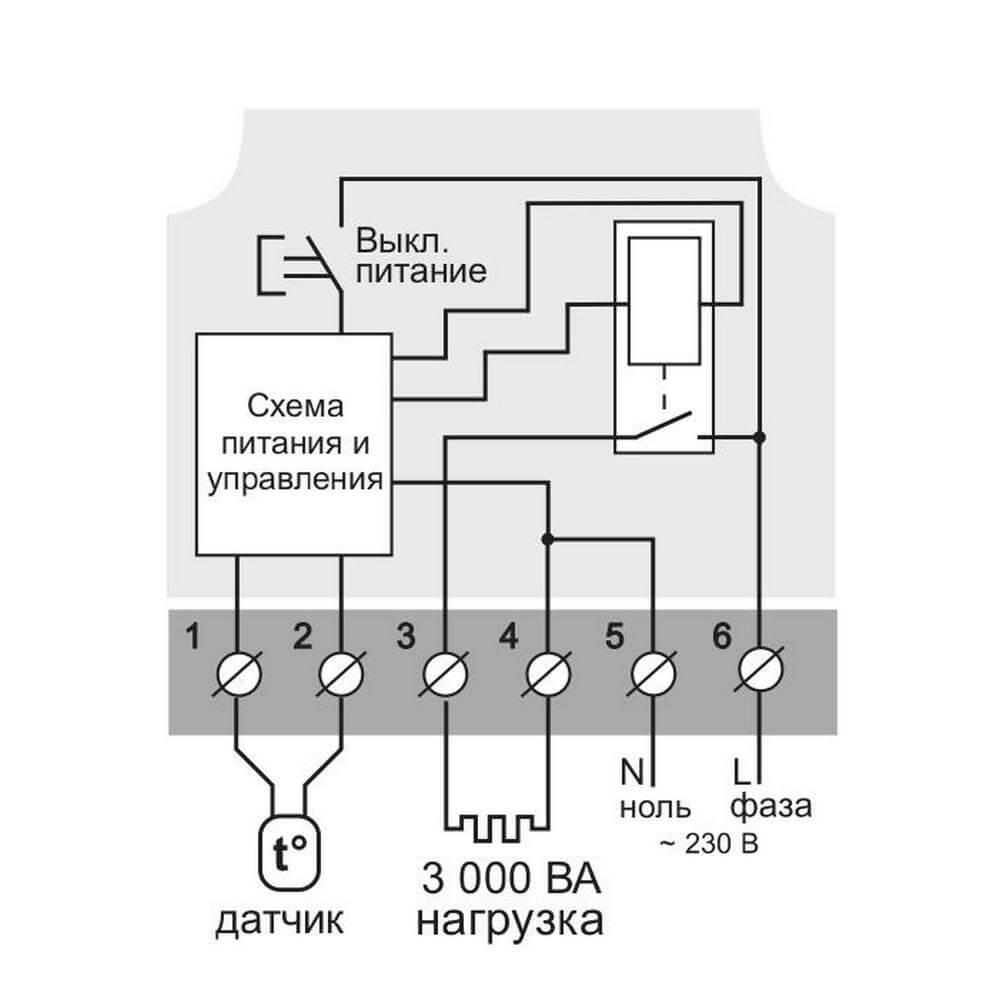 Схема подключения Terneo mex
